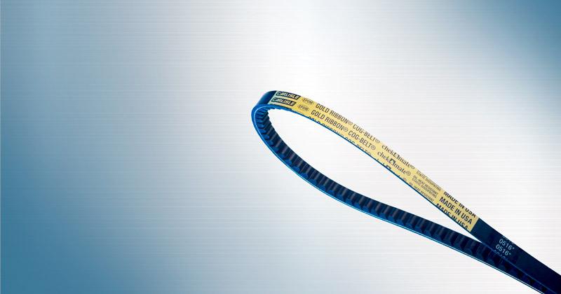 Image showing Gold-Ribbon Cog V-Belts by Carlisle Belts designed for blowers. pumps, HVAC and more