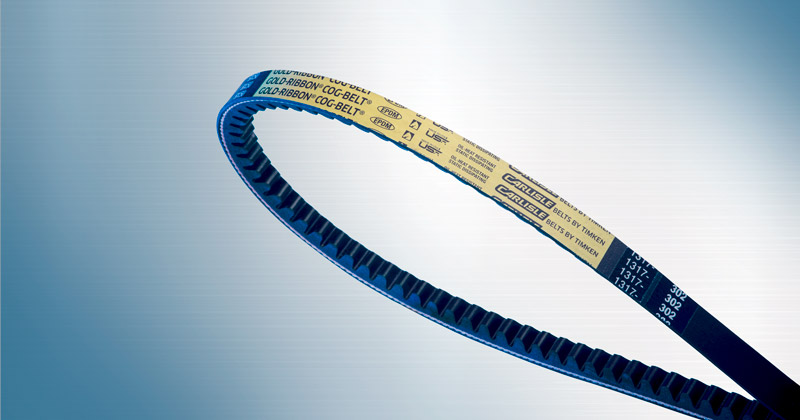 Gold Ribbon Cog V-Belts by Carlisle Belts