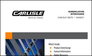 Download the Bando to Carlisle Belts Interchange Sheet for more information on replacing your Bando Belts with Carlisle Belts