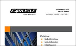 Download the OptiBelt Belts to Carlisle Belts Interchange Sheet for more information on replacing your OptiBelt Belts with Carlisle Belts