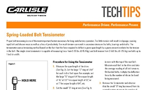 Download the Tensionmeter Instructions Sheet for more information on the operation of the Tensionmeter by Carlisle Belts