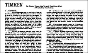 Carlisle Belts by Timken Terms and Conditions Document