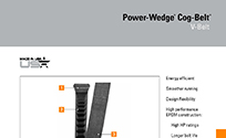 Power-Wedge Cog-Belt Brochure with Dimensions and Features