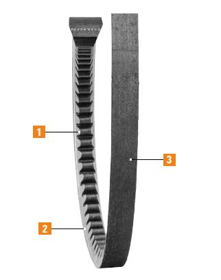 Carlisle Belts Gold-Ribbon Cog V-Belts Features