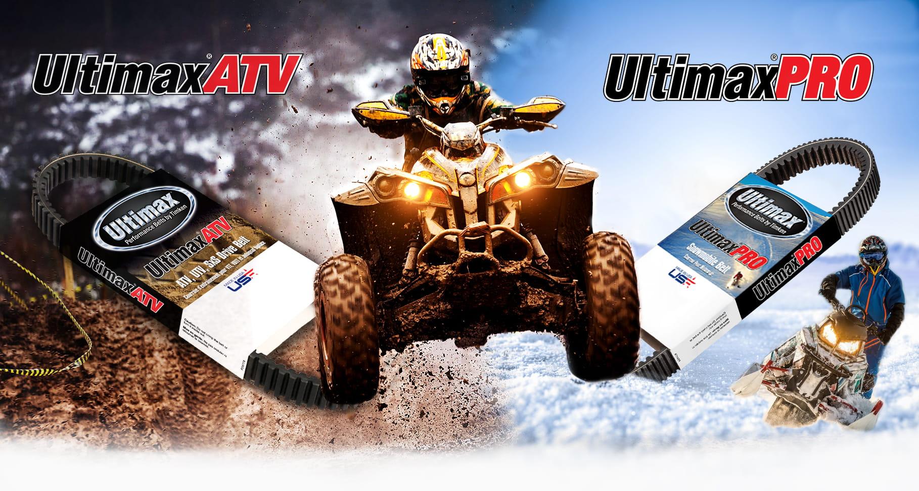 Powersports Belts by Ultimax - ATV Belts, UTV Belts, Snowmobile Belts